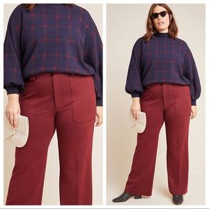 ANTHROPOLOGIE Essential Knit Twill Trousers NWT